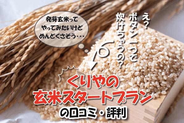 くりやの玄米スタートプランの口コミ