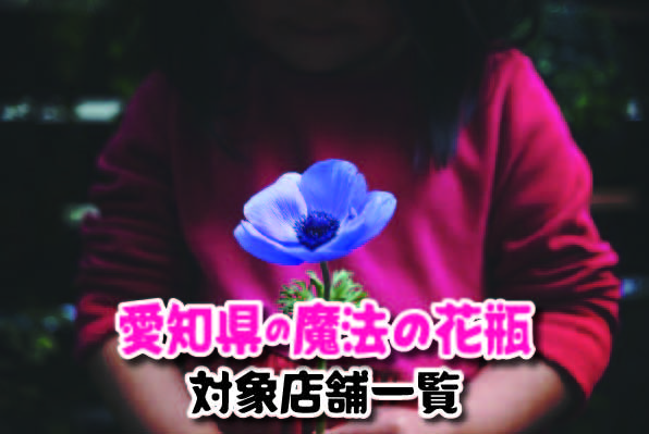 愛知県の魔法の花瓶対象店舗一覧