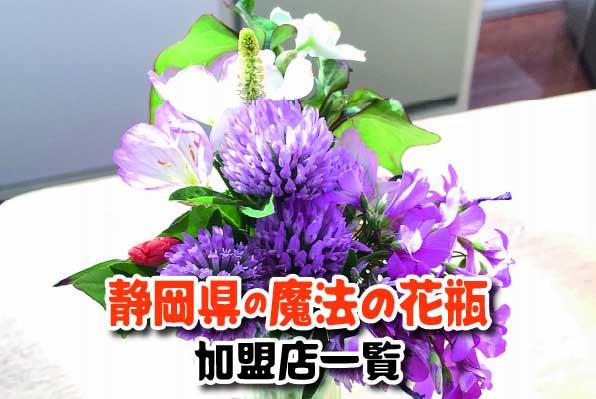 静岡県の魔法の花瓶対象店舗一覧
